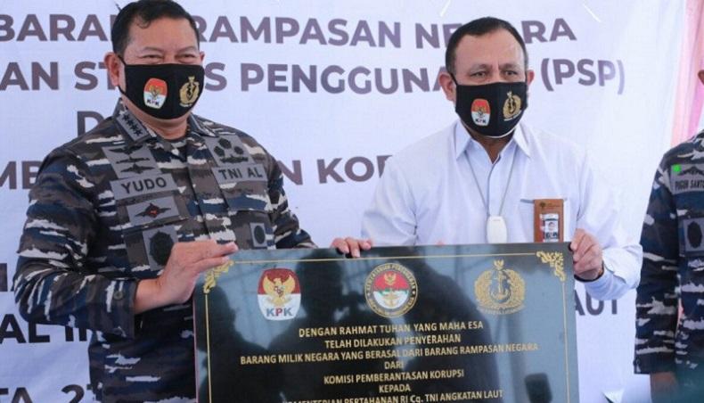 KPK Serahkan Aset Rampasan Rp55,8 Miliar ke TNI AL