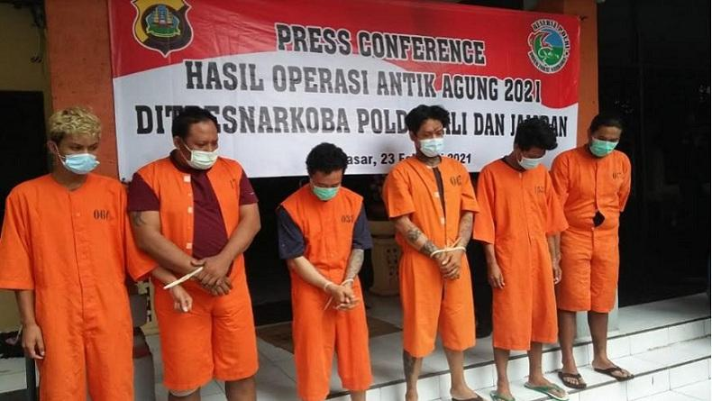 Operasi Antik Agung, Polda Bali Ungkap 64 Kasus Narkoba dan Tangkap 72 Tersangka