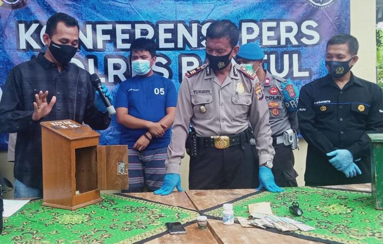 Polsek Pleret Bantul Amankan Pencuri Spesialis Kotak Infak Masjid