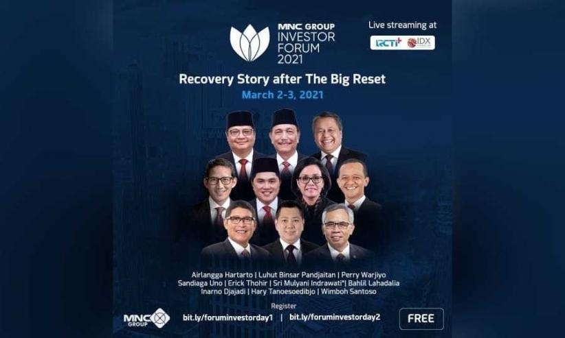 Daftar di Sini! Diikuti Investor Global 125 Negara, MNC Group Investor Forum Dihadiri Airlangga hingga Luhut