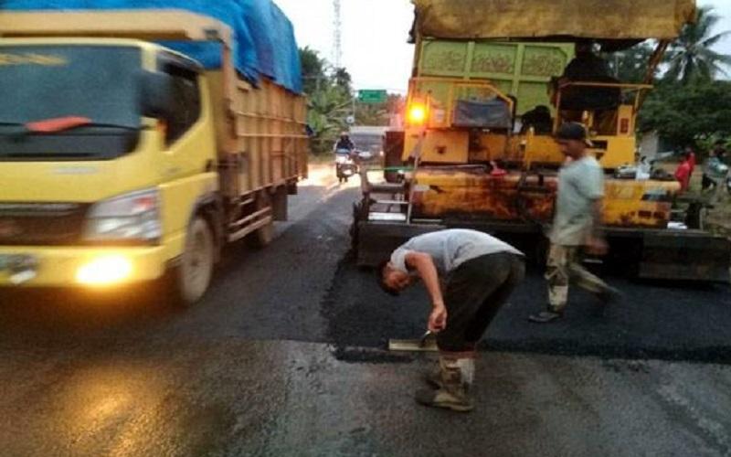 Proyek Preservasi Jalintim Palembang Dimulai, Investor Didenda jika Terjadi Kemacetan 1 Km