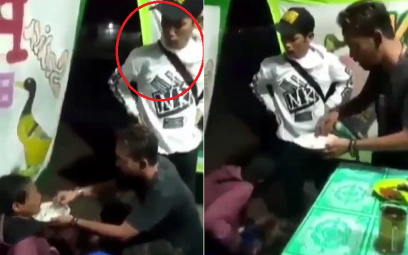 Viral, Pria Pukuli Penyandang Disabilitas di Warung Pecel Lele di Cimanggung Sumedang