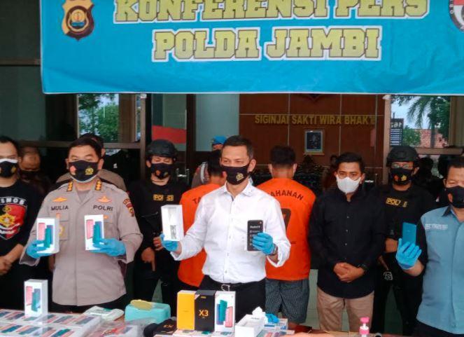 3 Perampok Ribuan Handphone di Muarojambi Ditangkap, 2 Pelaku Buron