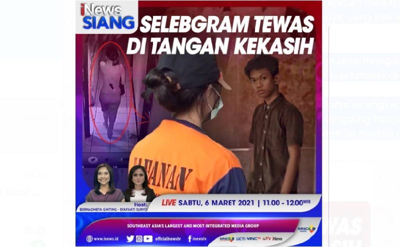 Selebgram Makassar Ari Pratama Ternyata Ditusuk saat Tertidur Lelap