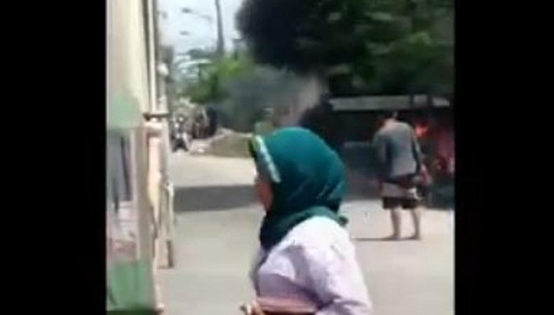 Suami Istri Pemilik Bensin Eceran Terbakar saat Tambal Ban Motor di Medan