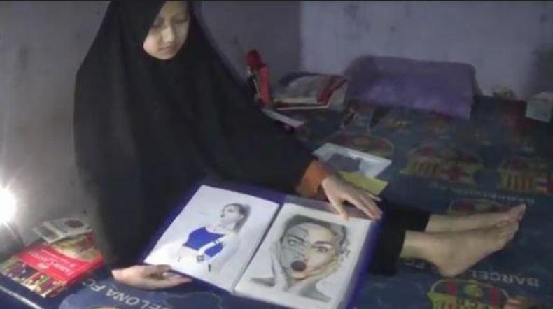Bangkit dari Keterpurukan, Gadis Cantik asal Banjarnegara Ini Berkarya Melalui Gambar