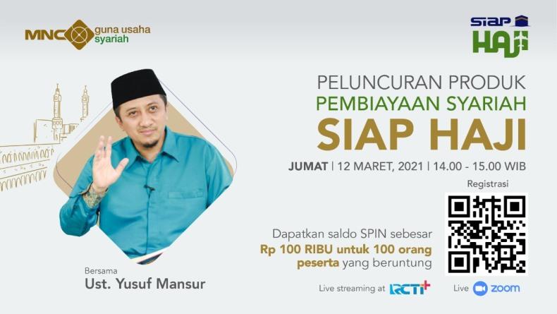 H-1 Daftar di Sini! Ada Tausiyah Ustaz Yusuf Mansur di Launching Produk Digital SIAP HAJI Milik BCAP!