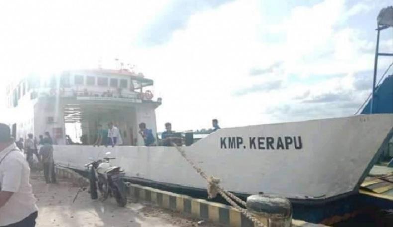 Dermaga Perigi Piai di Sambas Kembali Beroperasi, Penyeberangan Dilayani KMP Kerapu