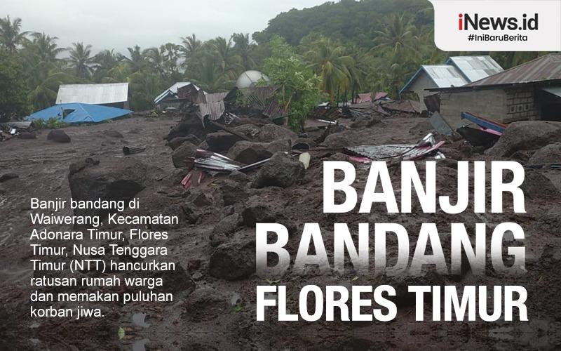 Update Banjir Bandang Flores Timur NTT: 69 Orang Tewas, 19 Hilang
