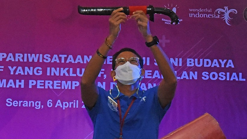 Menparekraf Sandiaga Uno Ajak Pelaku Pariwisata Banten Tingkatkan Kreativitas