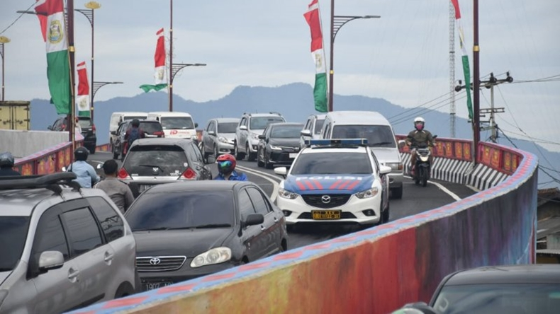 Diresmikan Wali Kota Eva, Lampung Akhirnya Punya Jalan Layang ke-11