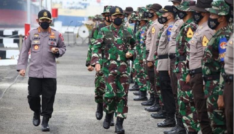 Kapolri Dampingi Panglima TNI Buka Latsitarda Nusantara 2021 di Sumut