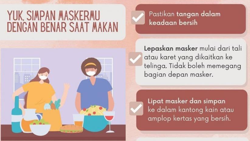 Cara Melepas dan Menyimpan Masker ketika Akan Makan, Perhatikan Ini