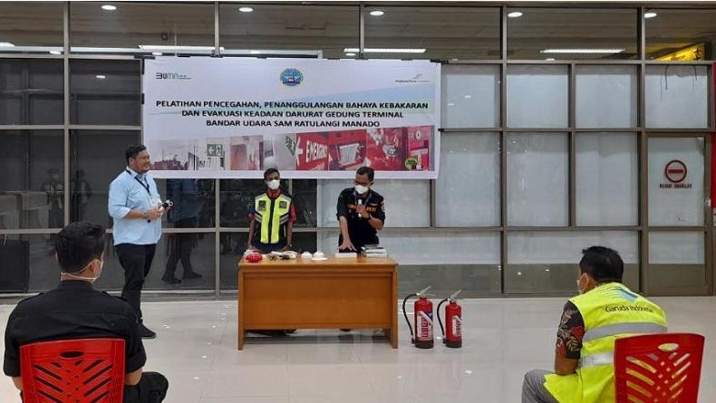 Bandara Sam Ratulangi Manado Edukasi Mitra Kerja dalam Pencegahan Kebakaran