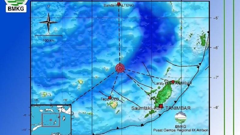 Gempa Bumi M4,9 Guncang Perairan Maluku Kamis Pagi