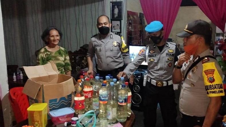 Operasi Pekat Jelang Ramadan, 21 Botol Miras Diamankan Polsek Pineleng