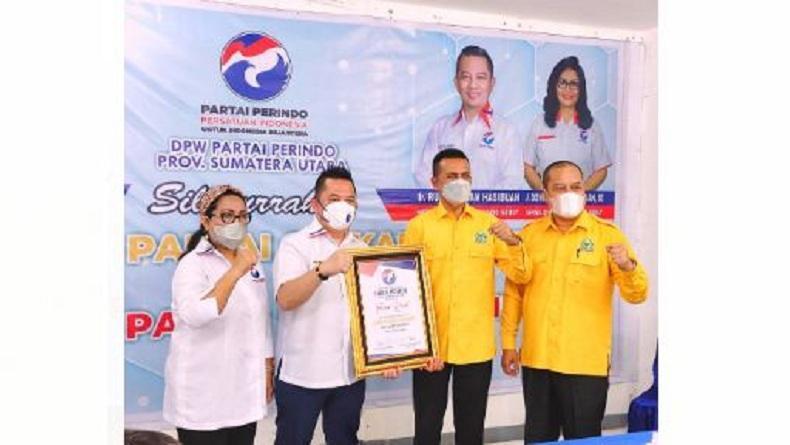 Dipimpin Musa Rajekshah, Partai Golkar Silaturahmi ke Kantor DPW Perindo Sumut