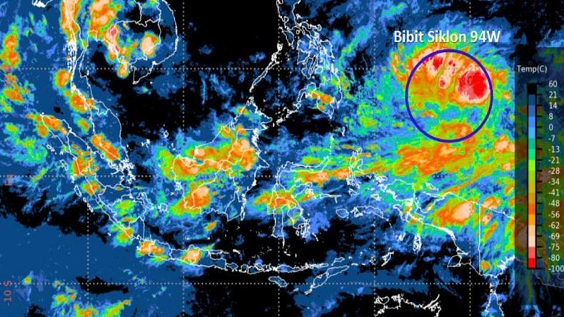 Bibit Siklon Tropis 94W Muncul di Utara Papua, BMKG: Waspada Cuaca Ekstrem Sepekan ke Depan
