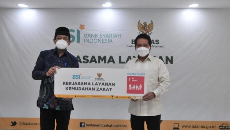 Optimalkan Potensi Zakat Rp300 Triliun, Bank Syariah Indonesia dan Baznas Kolaborasi