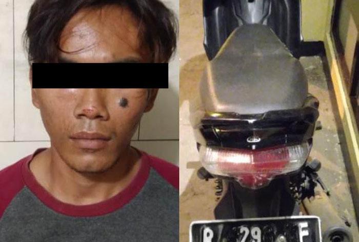 Gondol Sepeda Motor di Garasi, Residivis Pencurian Kembali Ditangkap Polisi