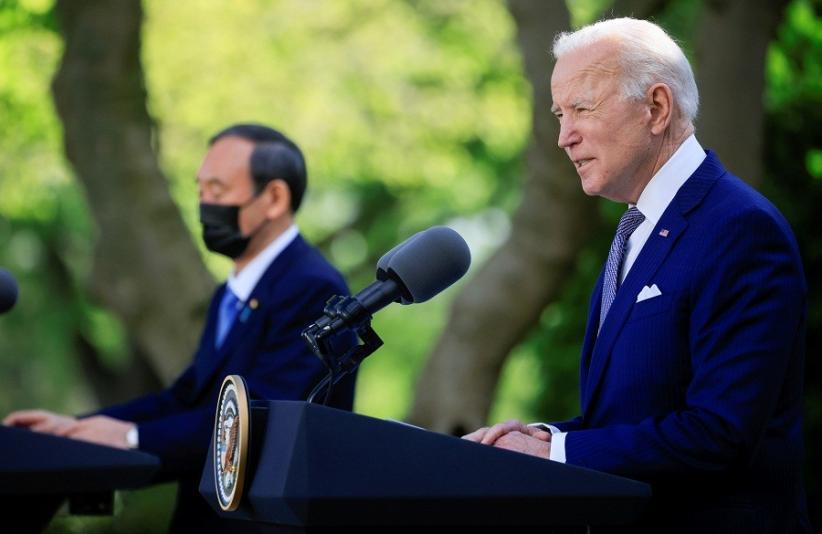 PM Suga Bertemu Joe Biden di Gedung Putih, AS-Jepang Perkuat Aliansi Hadapi China