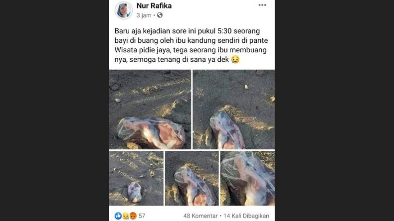 Berita Hoaks Penemuan Janin Hebohkan Warga Aceh, Polisi Buru Akun Pengunggah