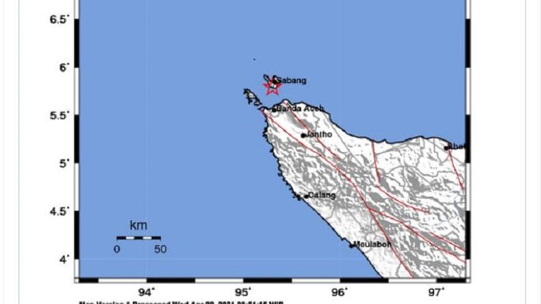 Sabang Diguncang Gempa Bumi M3,5, Pusat Getaran di Darat
