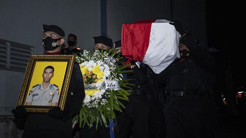 Jenazah Polisi Gugur Ditembak KST Papua Tiba di Palembang
