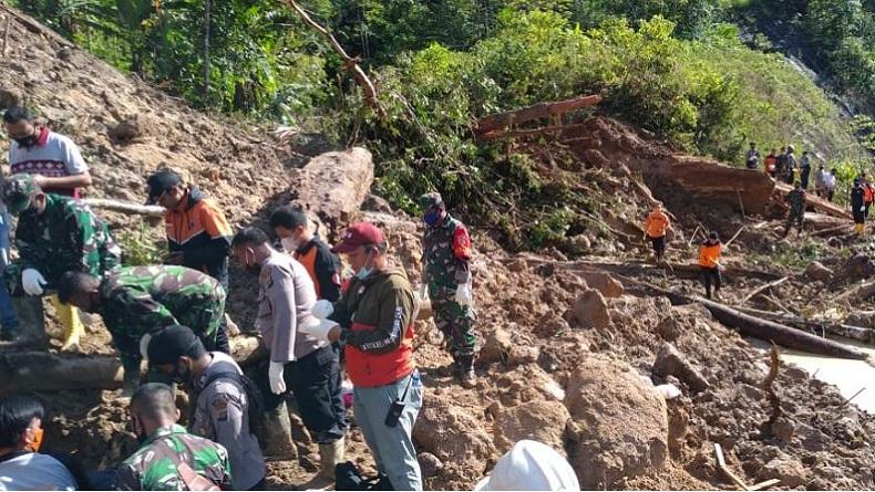 10 dari 13 Korban Longsor di Kawasan PLTA Batangtoru Tapsel Masih Sekeluarga