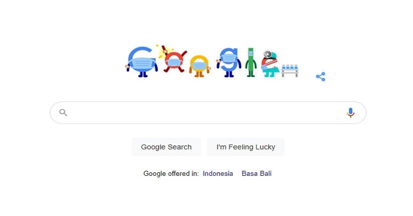Doodle Hari Ini, Google Ingatkan Pengguna untuk Jaga Protokol Kesehatan