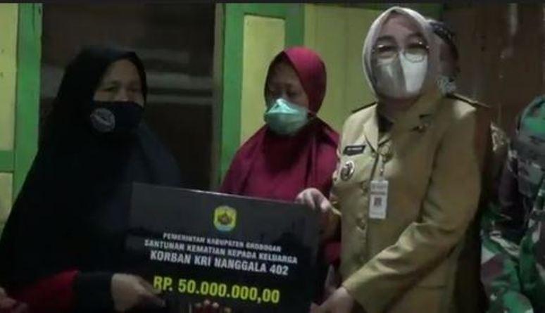 Pemkab Grobogan Jamin Biaya Pendidikan Anak 2 Prajurit TNI AL Kru KRI Nanggala-402
