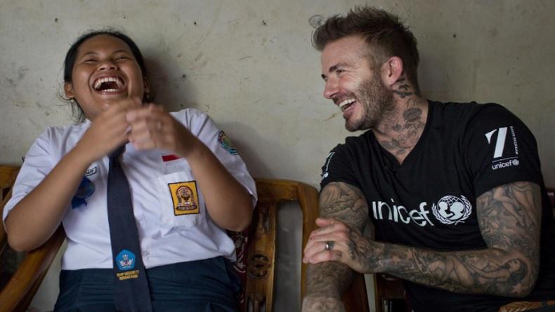 David Beckham Ulang Tahun, Unicef Unggah Foto Lawas Bareng Sripun Asal Semarang