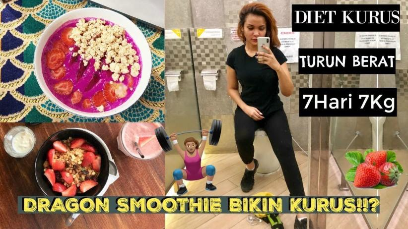 Dinda Shafay Berbagi Tips Diet dan Resep Dragon Fruit Smoothie Bowl