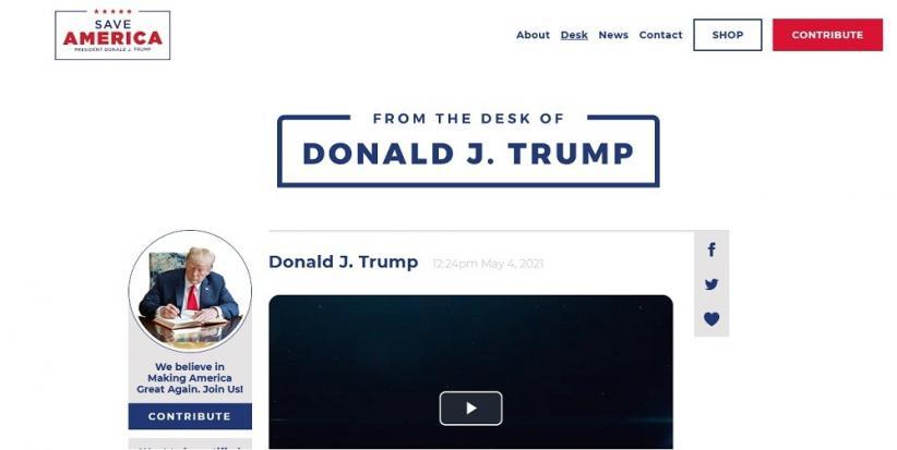 Donald Trump Luncurkan Blog Pengganti Medsos, Ulangi Klaim Palsu Kecurangan Pilpres AS
