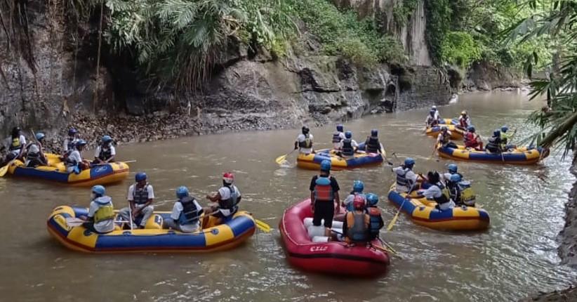 Bangkitkan Wisata Arung Jeram, Pelaku Usaha Simulasi Penerapan CHSE di Sungai Elo