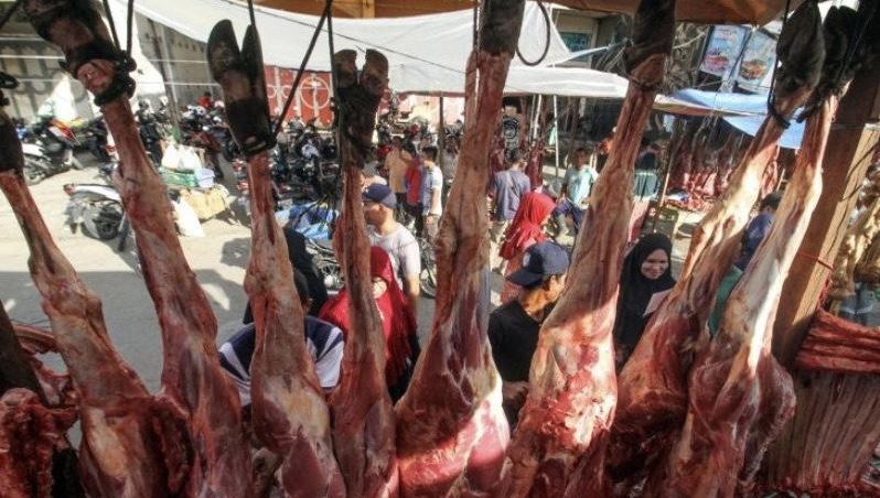 Sidak Pasar, Gubernur Babel Bersyukur Harga Daging Masih Terjangkau