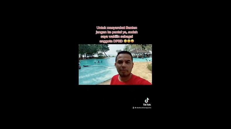 Setelah Video Liburan Viral, Ketua Fraksi PAN DPRD Banten Minta Maaf