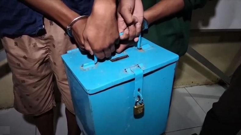 Ditangkap Polisi, 4 Remaja Ingusan Ini Sudah Jadi Spesialis Bongkar Kotak Amal