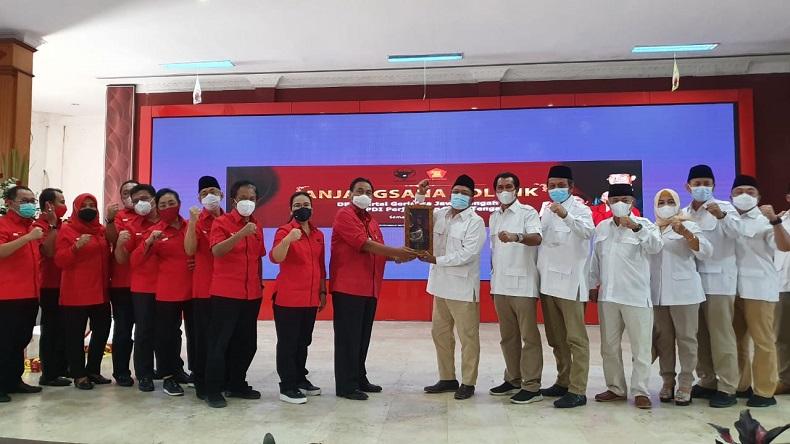 Pimpinan Gerindra dan PDI Perjuangan di Jateng Gelar Pertemuan Tertutup, Bahas Apa?