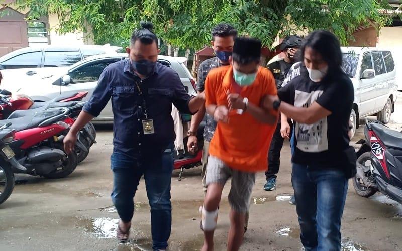 Melawan Polisi, Pembobol Konter di Palembang Ditembak