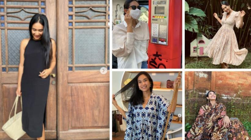 5 Gaya Bahagia Happy Salma, Istri Bangsawan Bali Simpel dan Cantik Banget