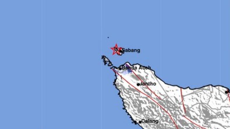 Gempa Bumi Terkini M4,0 Guncang Sabang Aceh