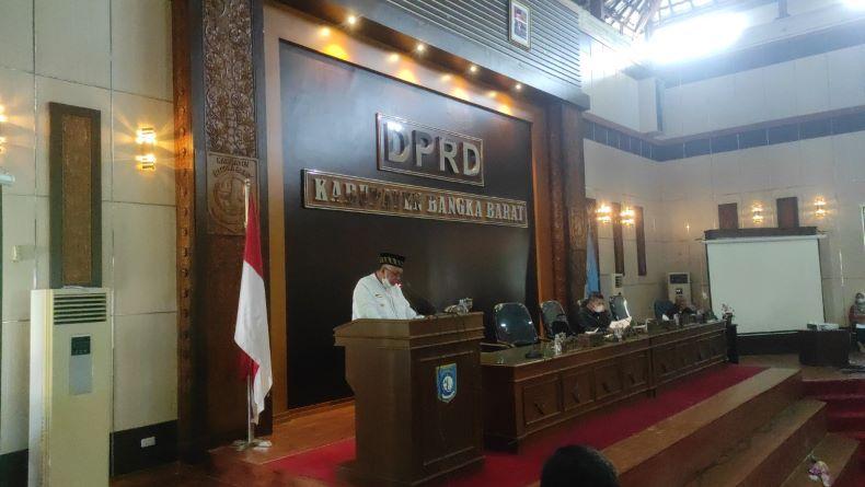 Bupati Bangka Barat Sampaikan Rancangan Awal RPJMD dalam Rapat Paripurna Bersama DPRD