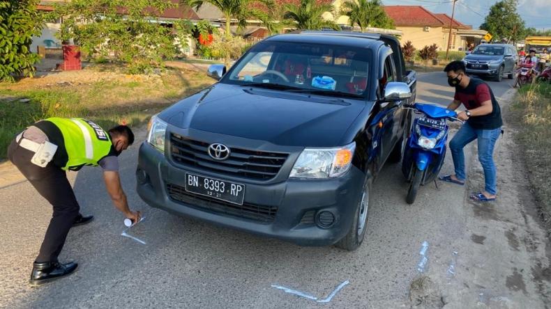 Pengendara Motor di Bangka Barat Tewas Diserempet Mobil