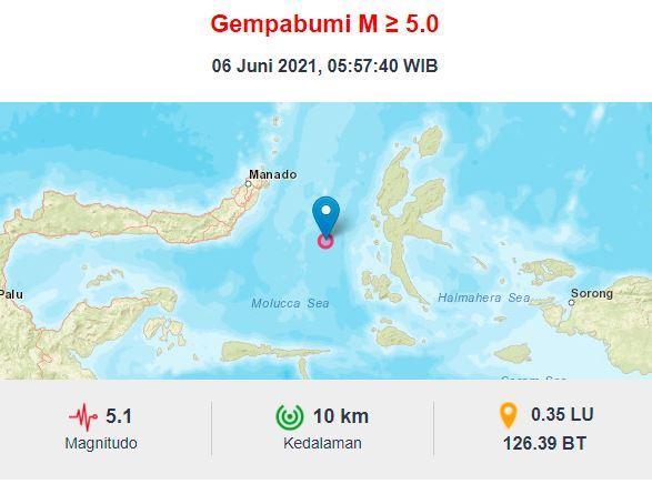 Gempa Terkini di Ternate M5,1, BMKG: Hati-Hati Gempa Susulan