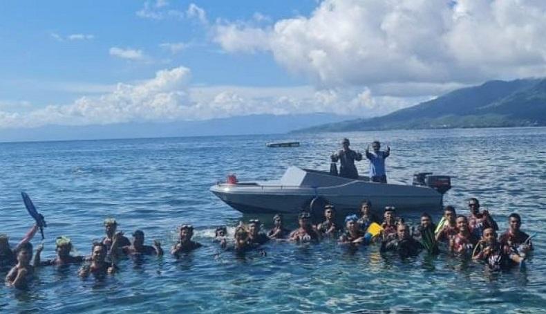 Hari Laut Sedunia, Lanal Ternate Gelar Latihan di Pantai Fala Jawa