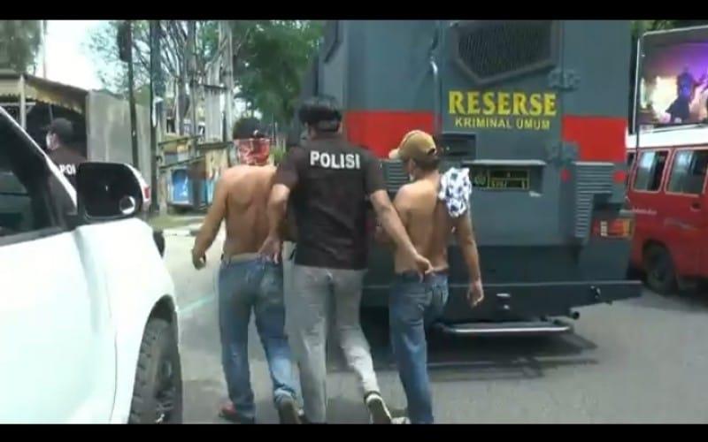 Polda Sumsel Tangkap Belasan Pemalak Berbaju Juru Parkir di Palembang