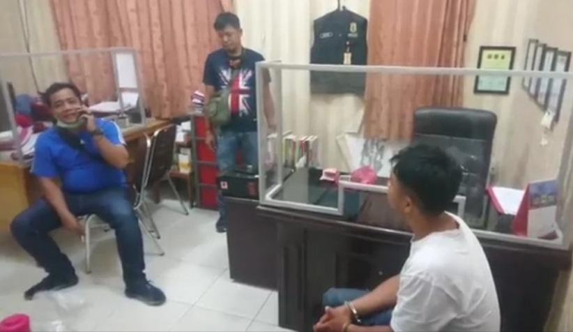 Bunuh Ayah Kandung, Pemuda di Asahan Tampak Tenang Diperiksa Polisi