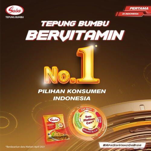 Sasa Tepung Bumbu Bervitamin Pilihan Nomor 1 Konsumen Indonesia