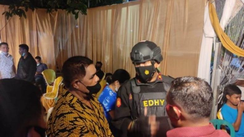 Tak Patuhi Prokes, Pesta Pernikahan di Makassar Dibubarkan Polisi